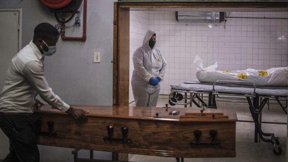 A morgue in a South African hospital