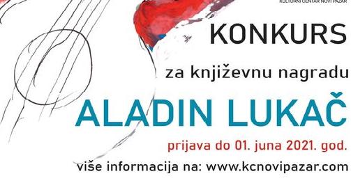 Raspisan konkurs za književnu nagradu Aladin Lukač