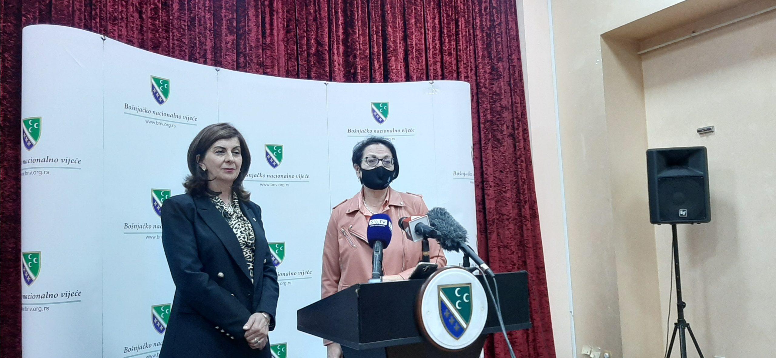 Ministarka Čomić posetila Bošnjačko nacionalno vijeće (video)